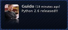 Python 2.6 released